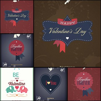 St.Valentines Day modern templates set vector