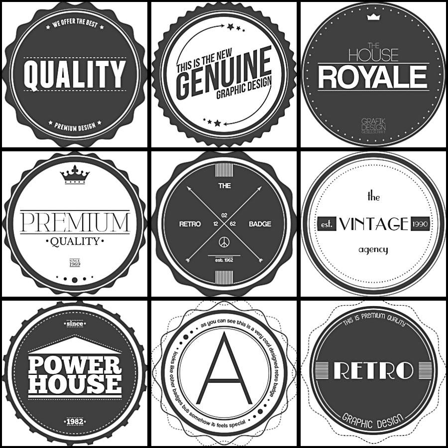 Vintage badges and labels set vector