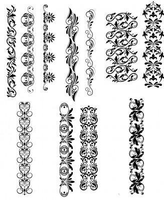 Decorations elements set vector