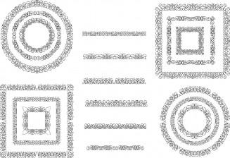 Decorative figures elements set vector