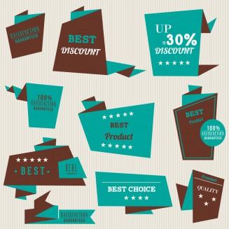 Sale badges for shops set vector