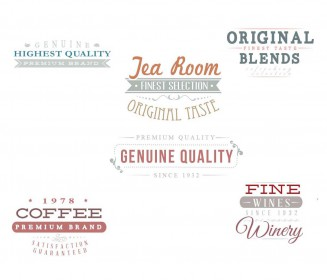 Restaurant badges menu set vector
