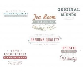 Restaurant badges menu set vector