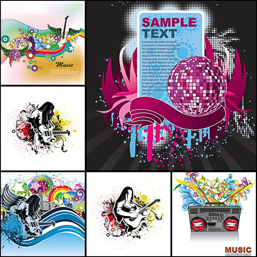 Music rock grunge background vector