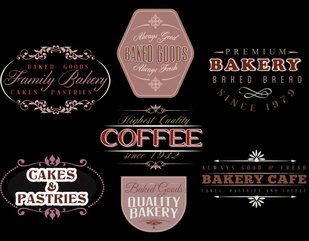 Bakery Cafe Logotype Vector Free Download