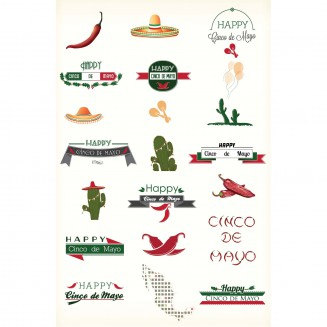 Cinco de Mayo elements vector