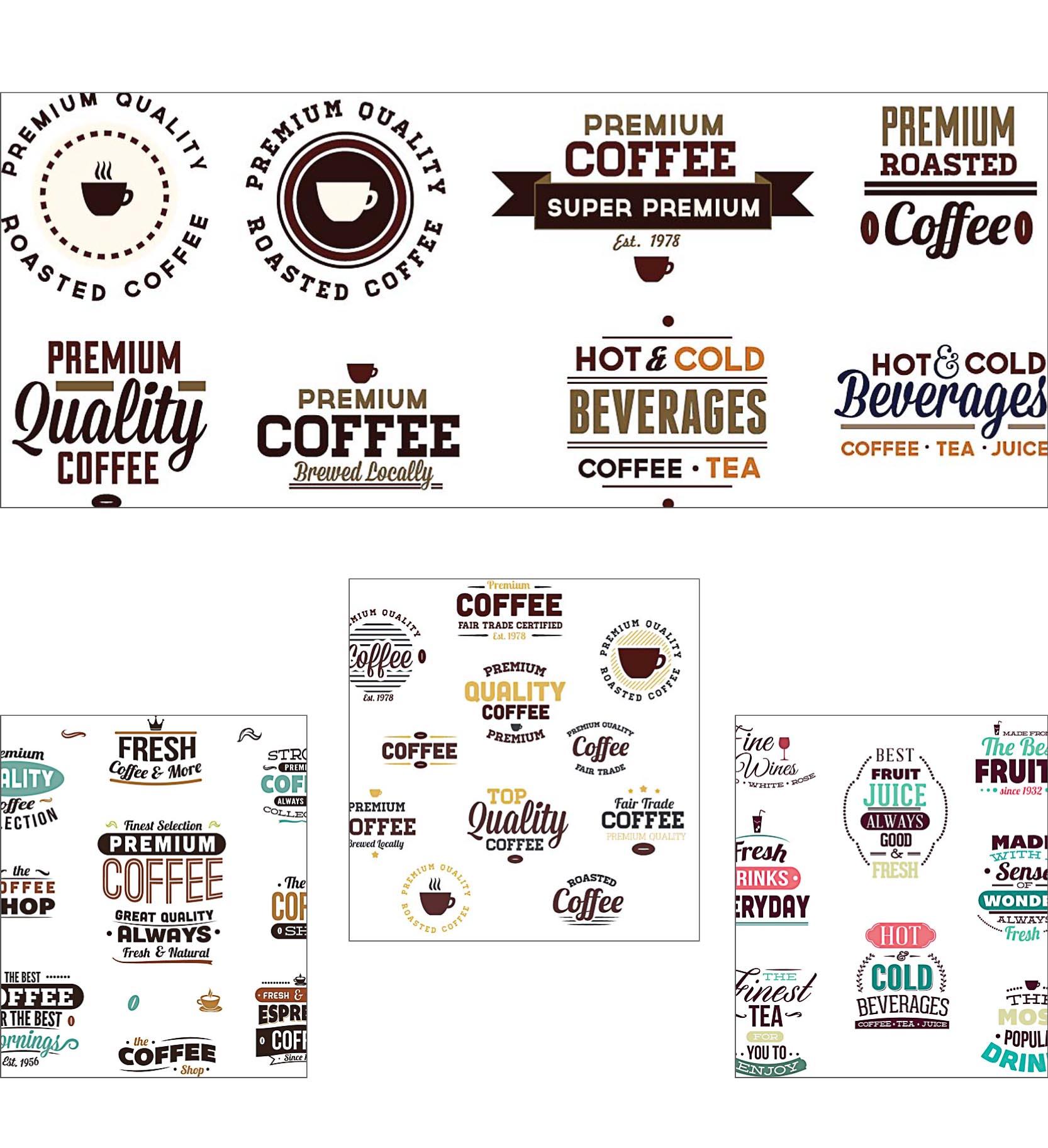 Beverages original badges coffee set vector