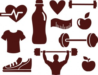 Sport elements fitness set vector