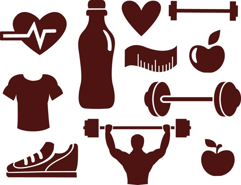 Fitness sport elements vector cgispread free download