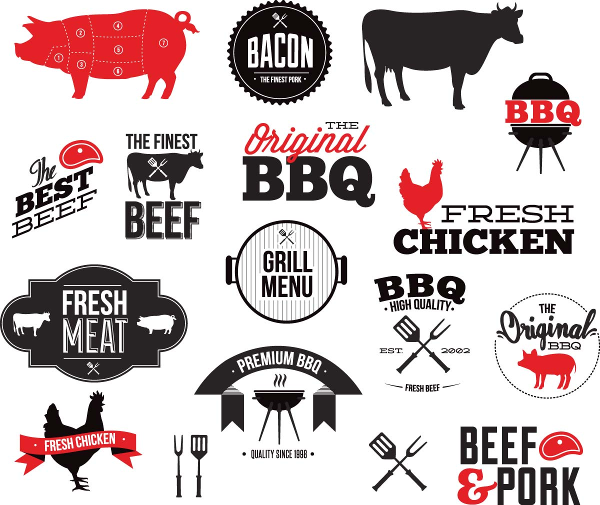 Grill bbq restaurant vector free download