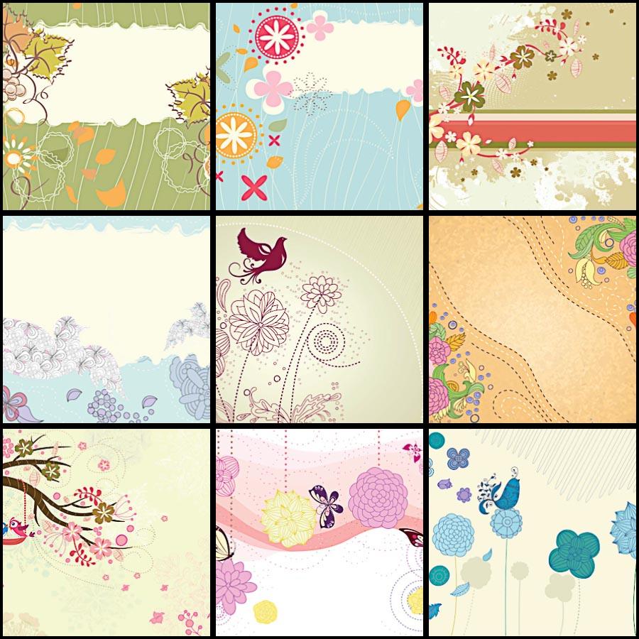 Floral pattern spring vector