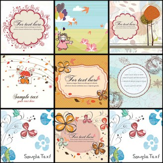 Light background frames spring ornate vector