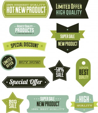 Special offer label set vector