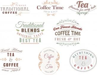 Coffee shop bakery logotype set vector