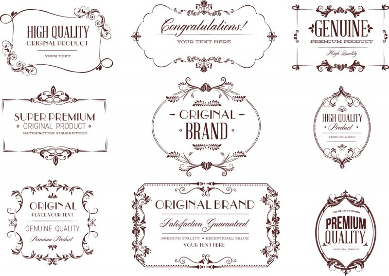 Vintage Calligraphy Set Vector Cgispread Free Download