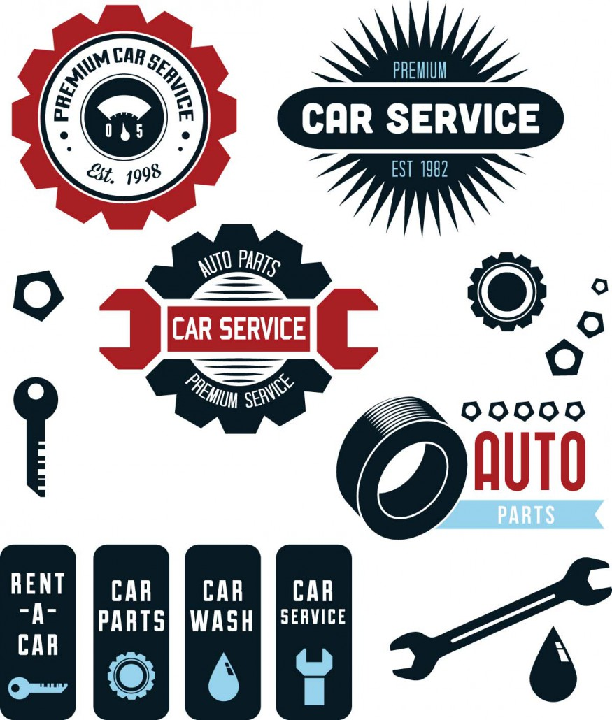 Vintage Vector Car Service Labels  Free Download-2983