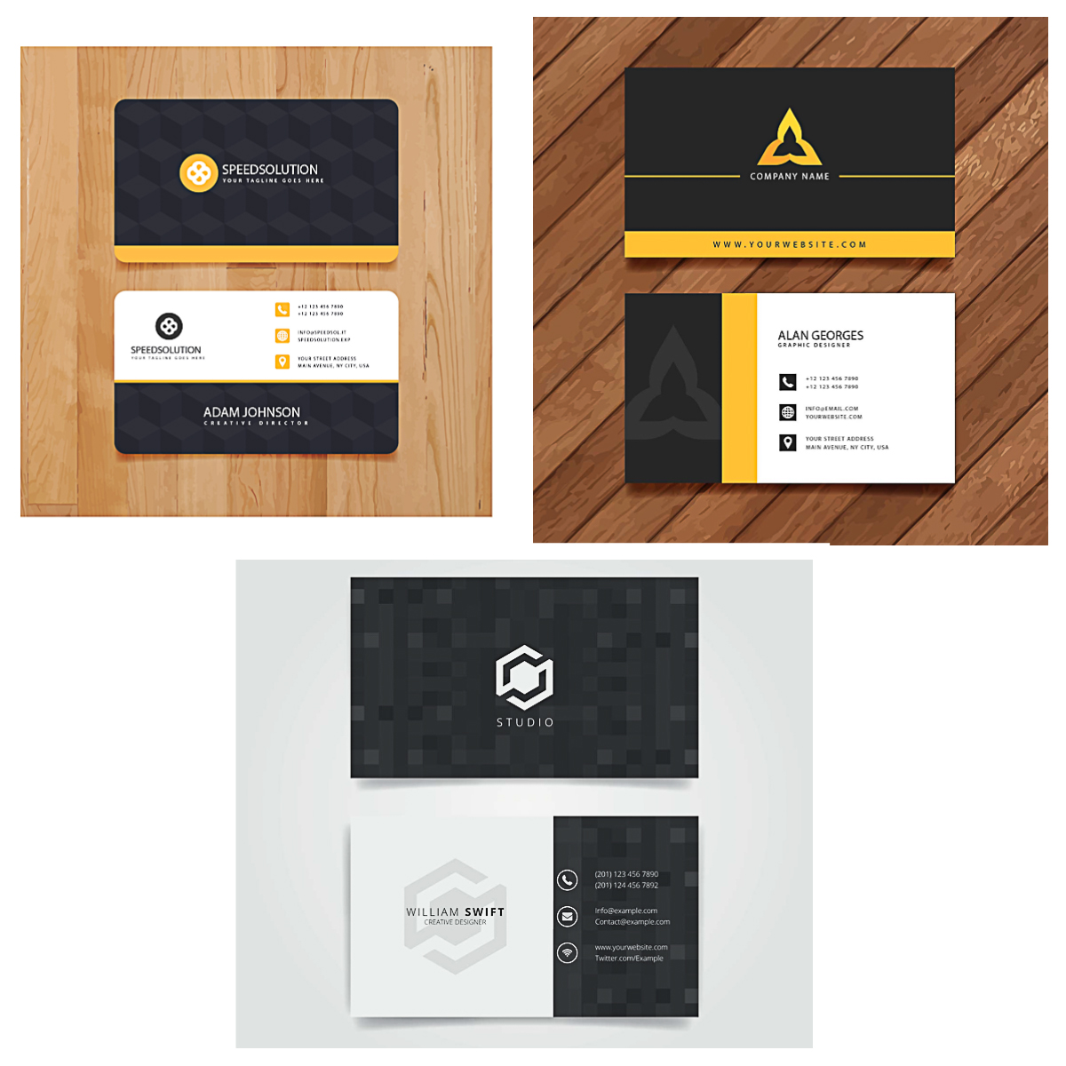 Minimalist business card vector | Free download
