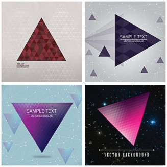 Modern background with triangle background set vector