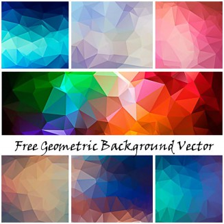 Geometry design background vector