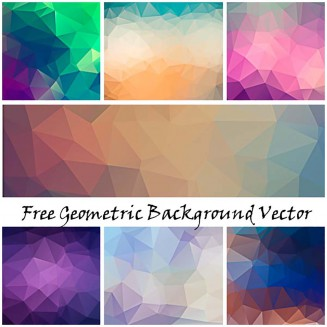 Geometry design background colorful vector