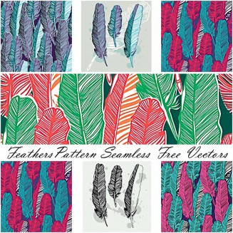 Feather seamless pattern free vector art