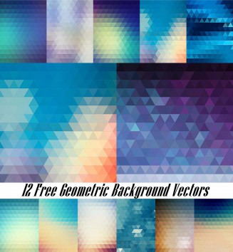Modern geometric blue background set vector