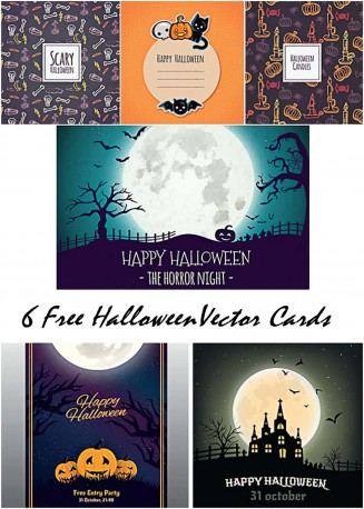 Grungy Halloween backgrounds with spooky full moon