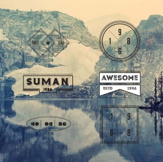 Graphic logo and badges modern vector set