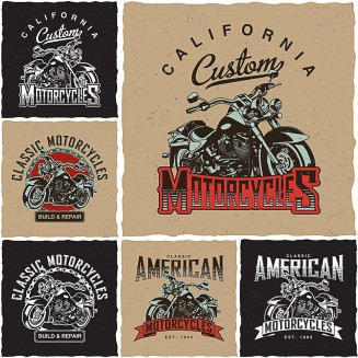 California custom choppers t-shirt print vector