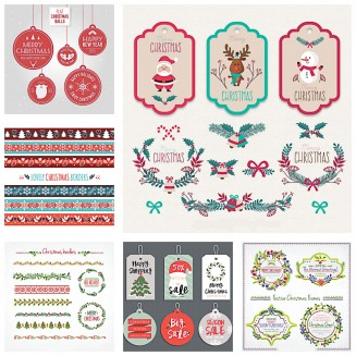 Lovely Christmas design elements collection