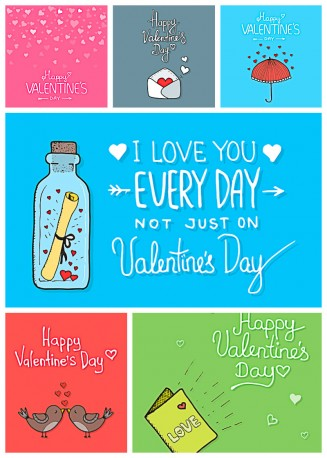 St.Valentine's day cards with romantic letter