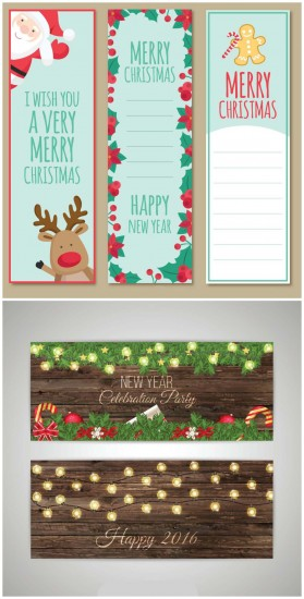 Christmas wooden party banners