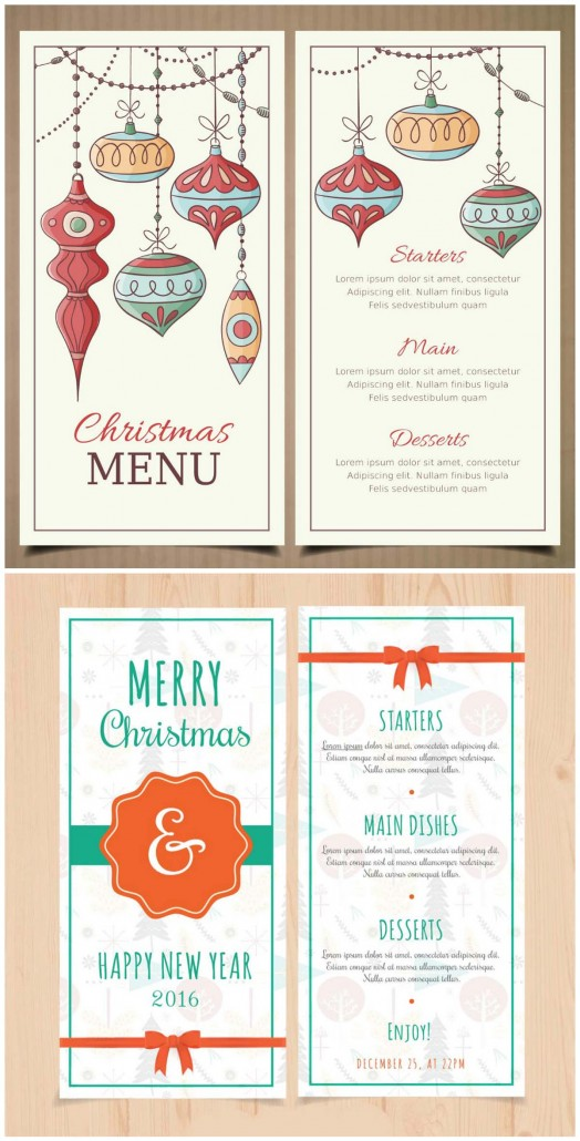 New Year Menu Template  Free Xmas Menu Templates