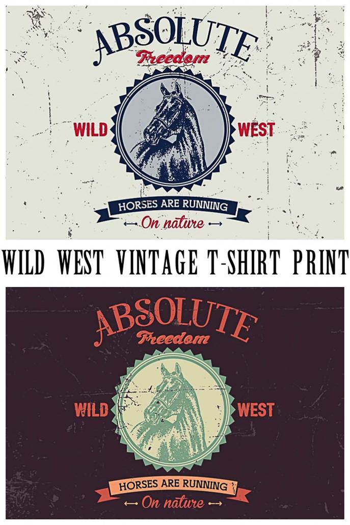 wild west vintage t