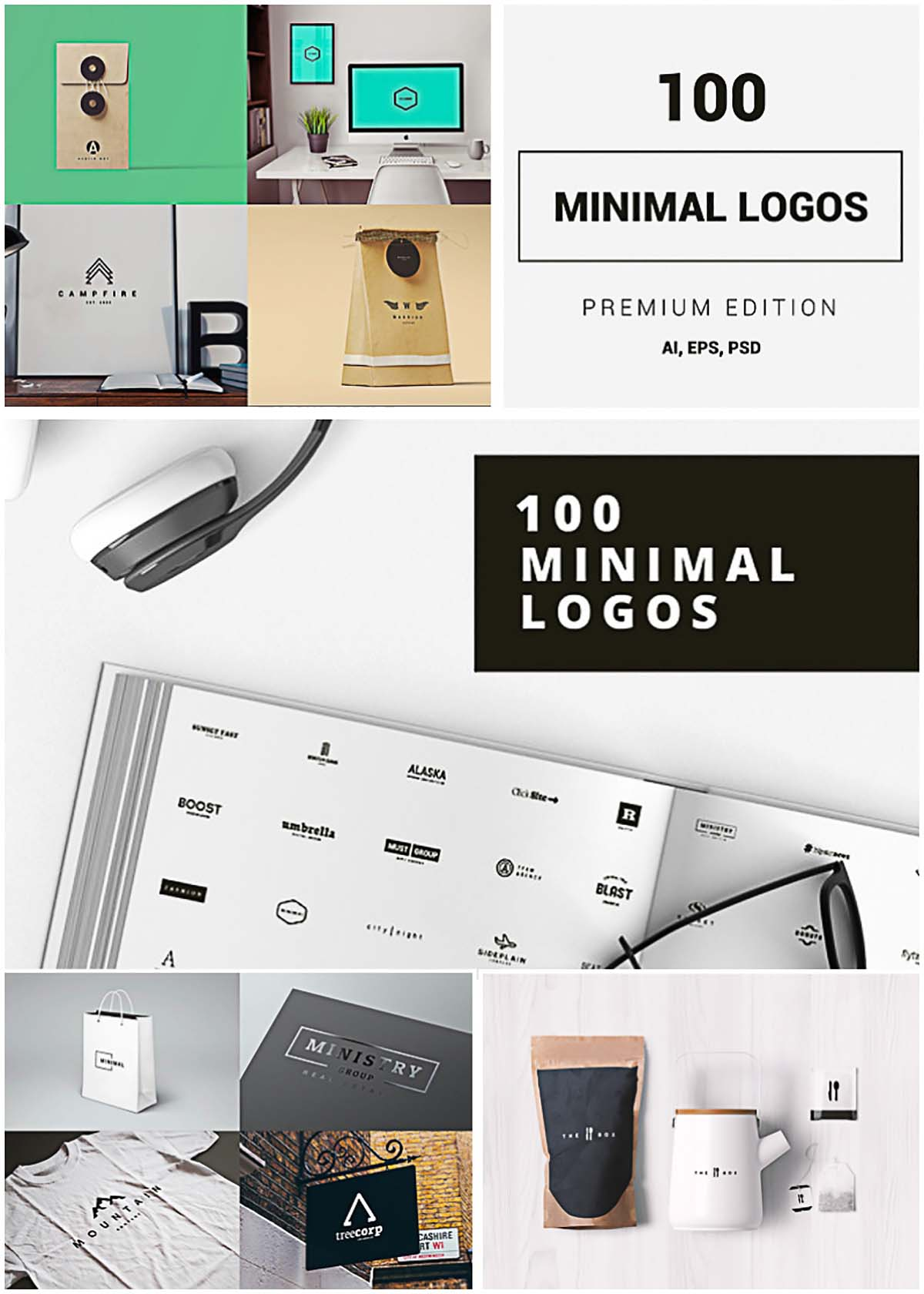 Minimal logos for business free vector
