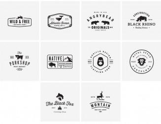 Animal logotypes modern vector