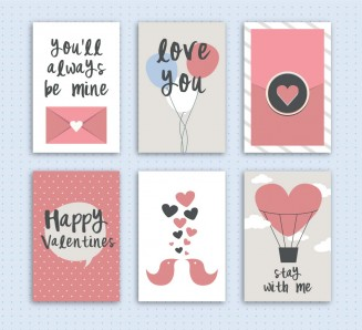 Cute valentines day card collection