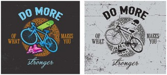 Extreme sport T-shirt design with bicycle