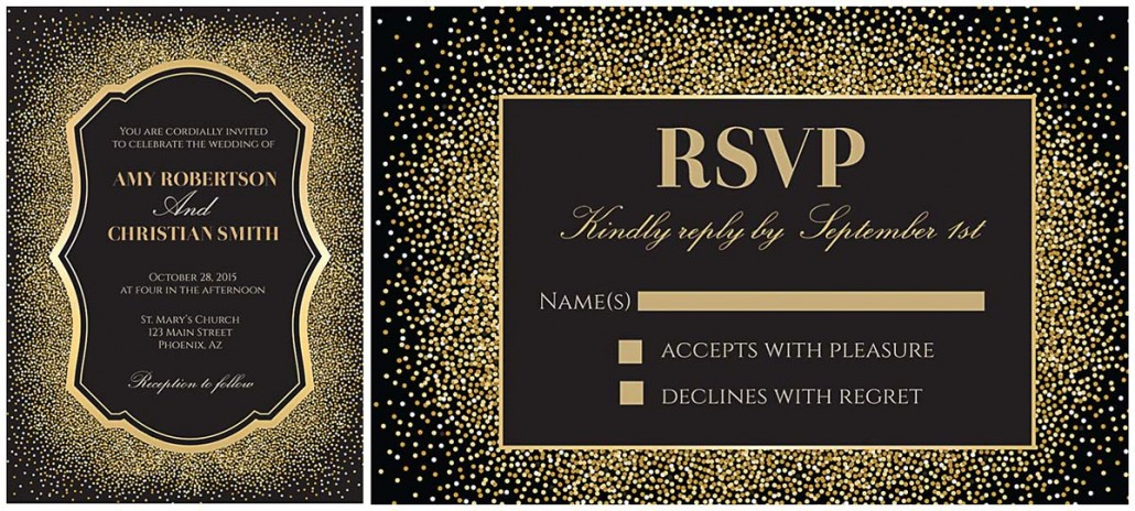 Gold and glitter wedding invitation free download stopboris Images