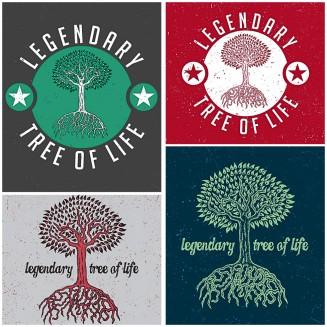 Tree illustration for T-shirt print free vector
