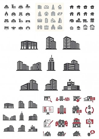 Real estate icons bundle