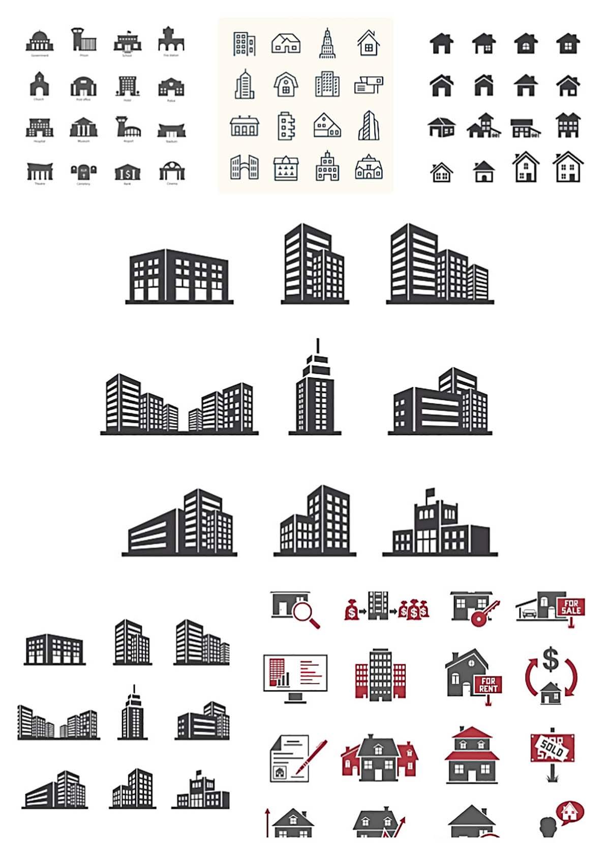 Real estate icons bundle