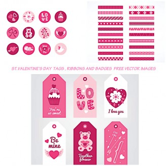 Valnetine's day elements vector pack