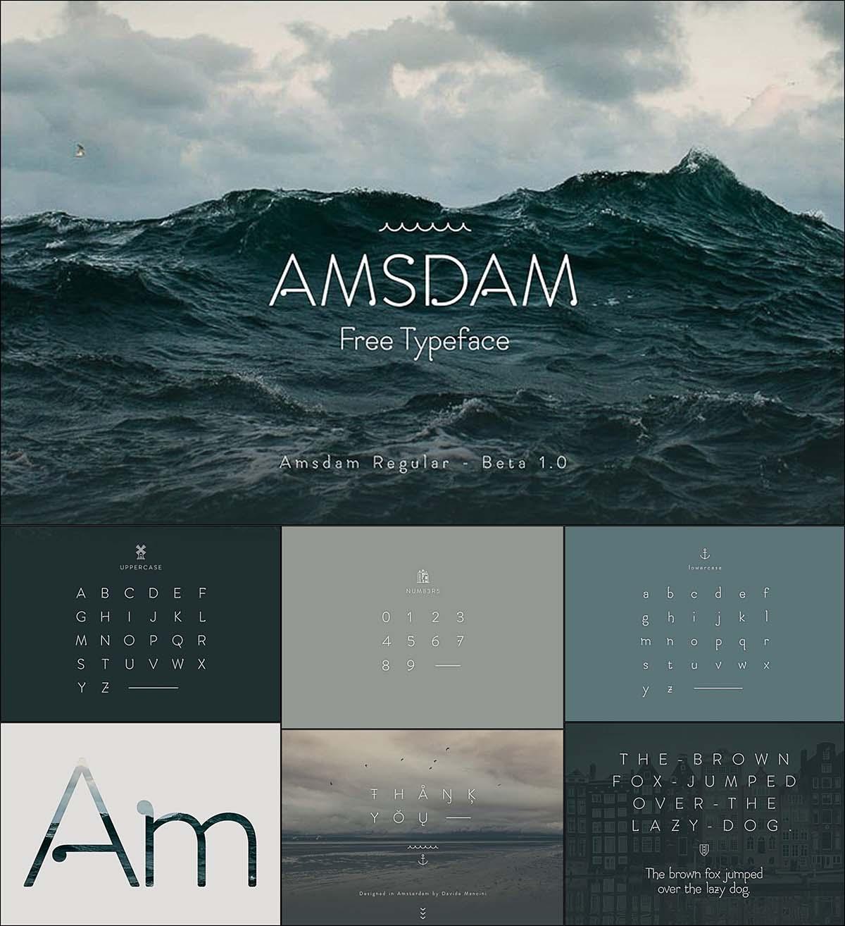 Amsdam elegant typeface