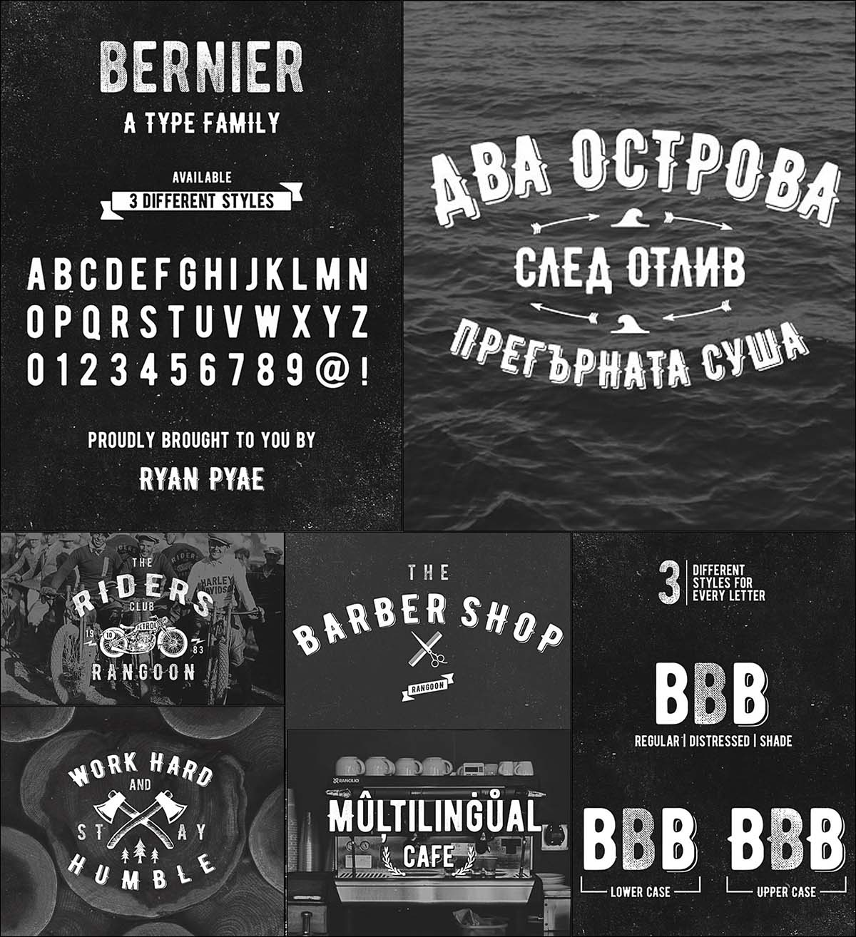 Bernier retro font cyrillic and latin | Free download