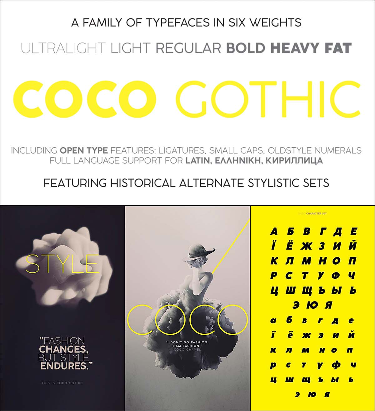 Coco gothic font family bundle