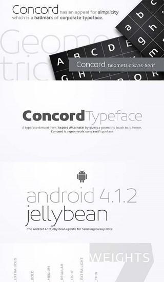 Concord corporate font set