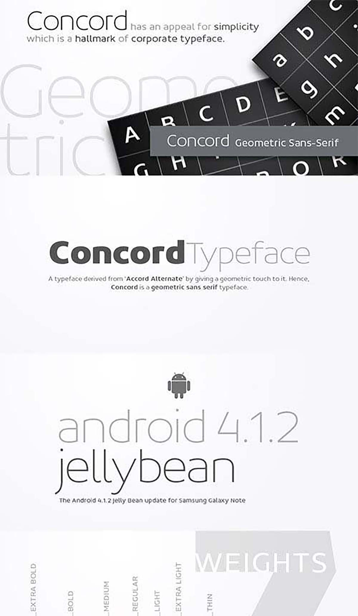 Concord corporate font set