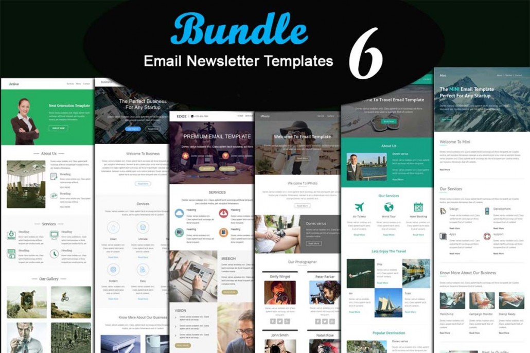 Email newsletter templates collection free download for Newsletter layout templates free download