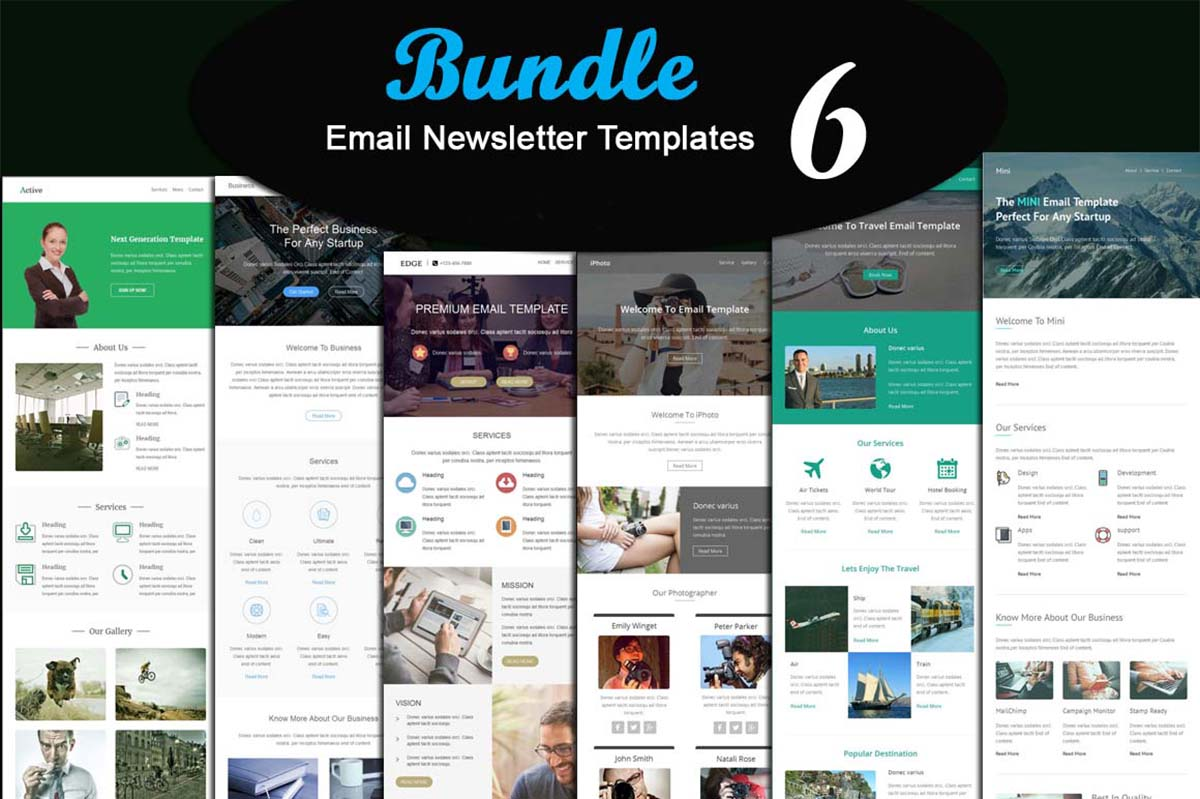 6 Modern Email newsletter template bundle